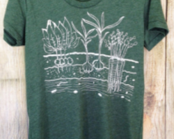 Women's Fitted T Shirt – Veggie Garden from One Lane Road